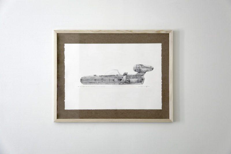 STAR WARS: A NEW HOPE, X34 LANDSPEEDER, LUKE SKYWALKER